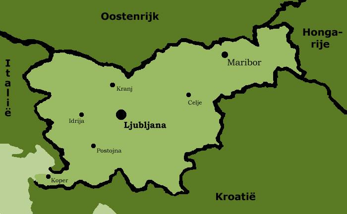 Kaart van Slovenië