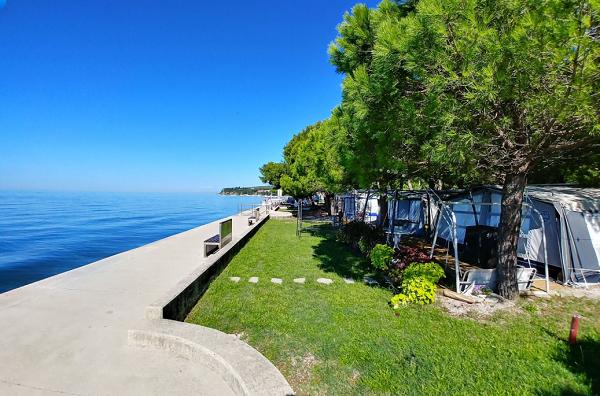 De camping Adria is gelegen aan de Sloveense Adriatische Kust in Ankaran