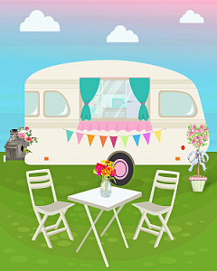 Blik op Camping Korita