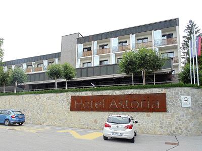 Uitzicht op hotel Astoria Bled